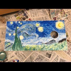 Other - Acrylic Starry Night Recreation on Corn Hole